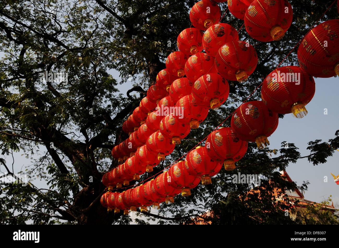 Chinese lantarn in Bangkok Stock Photo