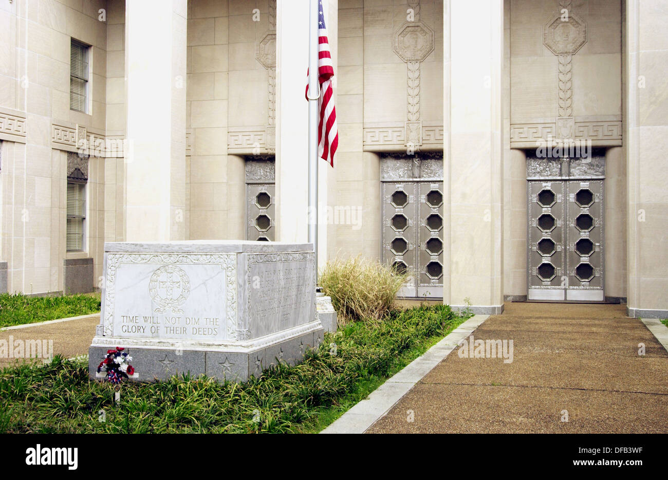 War dead memorial in Jackson, Mississippi, USA - Stock Image