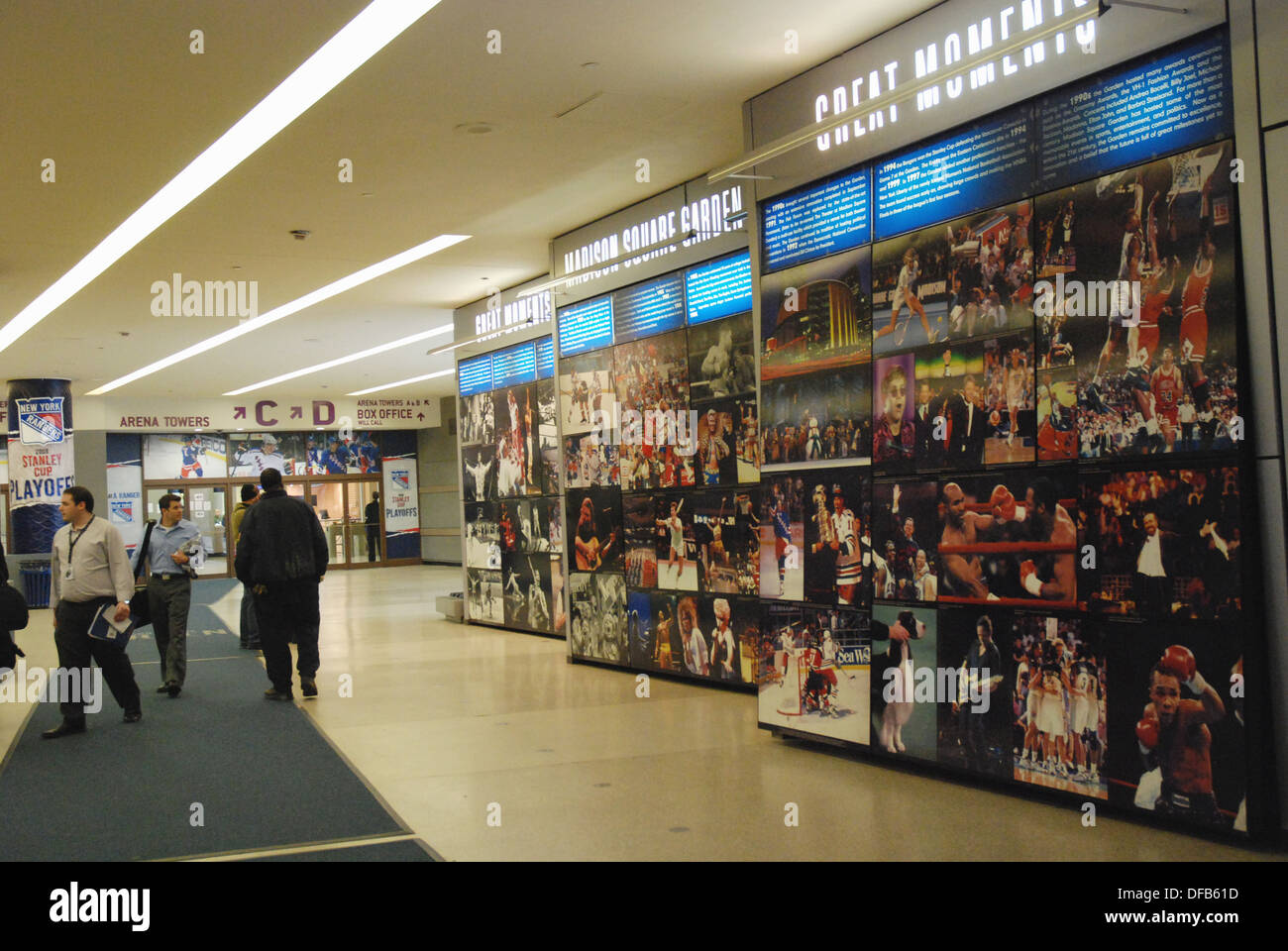 Lobby of Madison Square Garden Stock Photo: 61097161 - Alamy