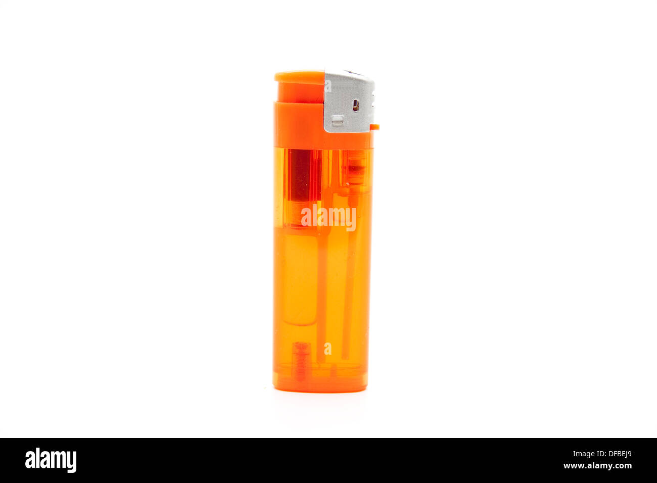 Lighter Filled with Gas on white background - Stock Image