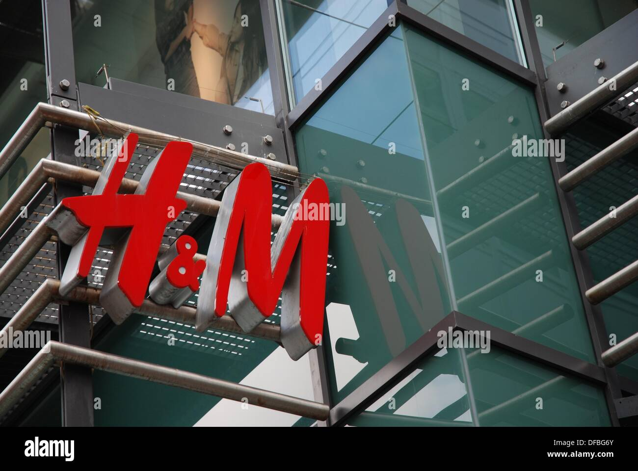 Logo of H&M at a Shop in Ulm - Stock Image