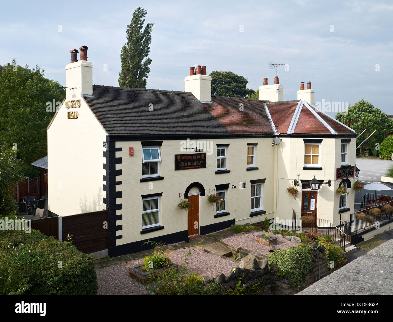 Queens Head hotel in Congleton Cheshire UK - Stock Image