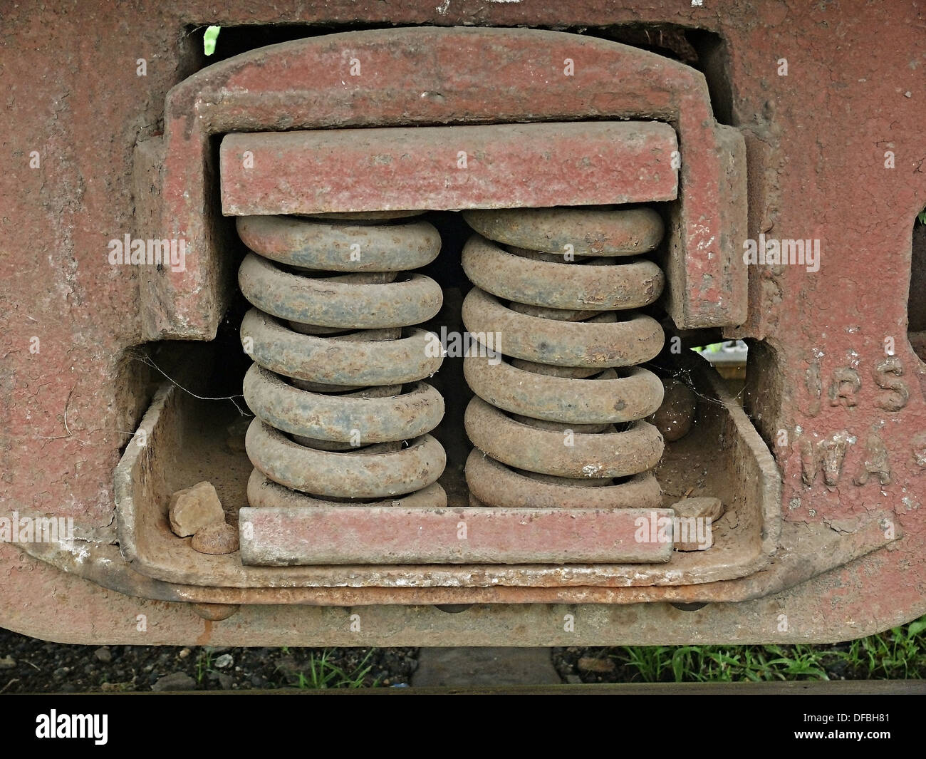 Railway Shock absorbers - Stock Image