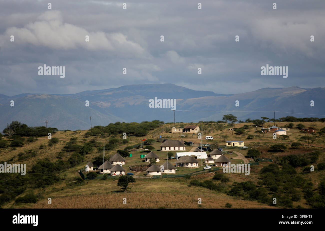 South African President Jacob Zuma homestead in Nkandla area in KwaZulu Natal province April 22 2009 Picture by Rogan Ward - Stock Image