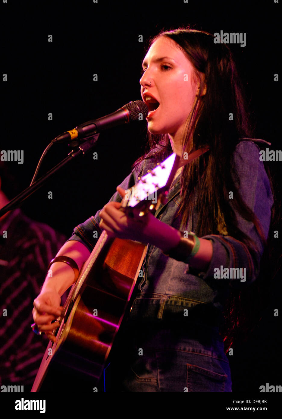 Josie Field performs at Splashy Fen music festival held annually in the Drakensberg mountains, April 5, 2007. © Stock Photo