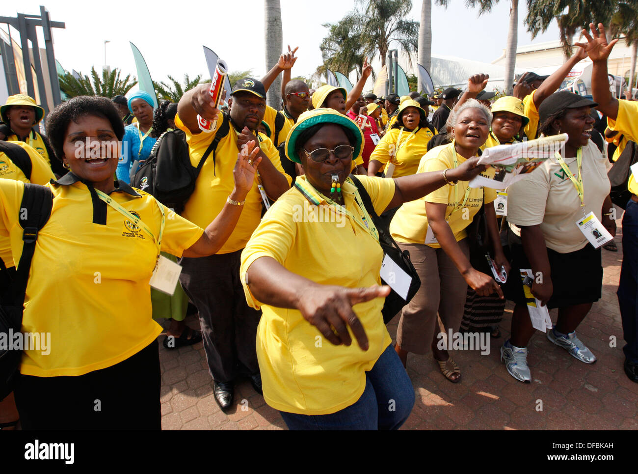 Delegates arrive at the African National Congress (ANC) National General Council in Durban, 20 September 2010. © Rogan Ward 2010 - Stock Image