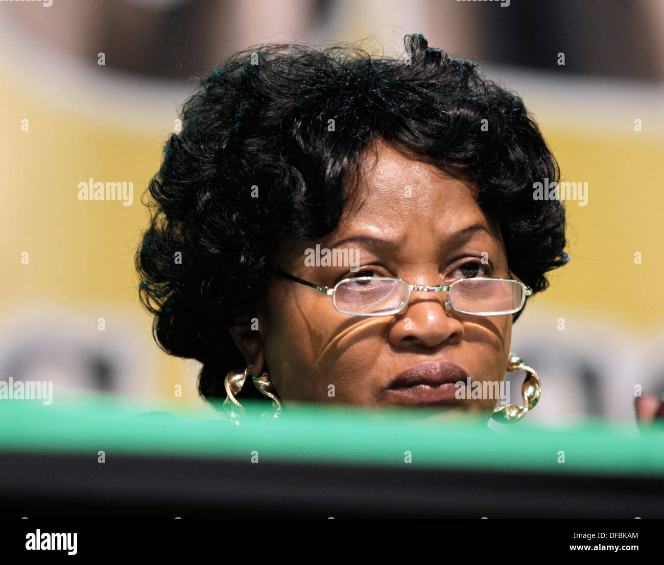Baleka Mbete at the African National Congress (ANC) National General Council in Durban, 20 September 2010. © Rogan Ward 2010 - Stock Image
