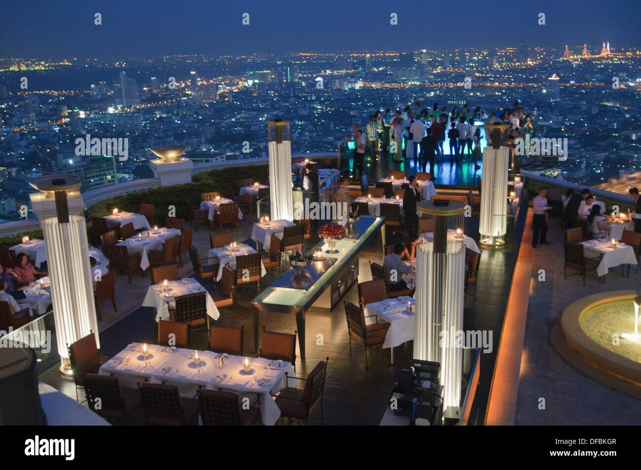 City View At Night From The Rooftop Restaurant At The Lebua State Stock Photo Alamy