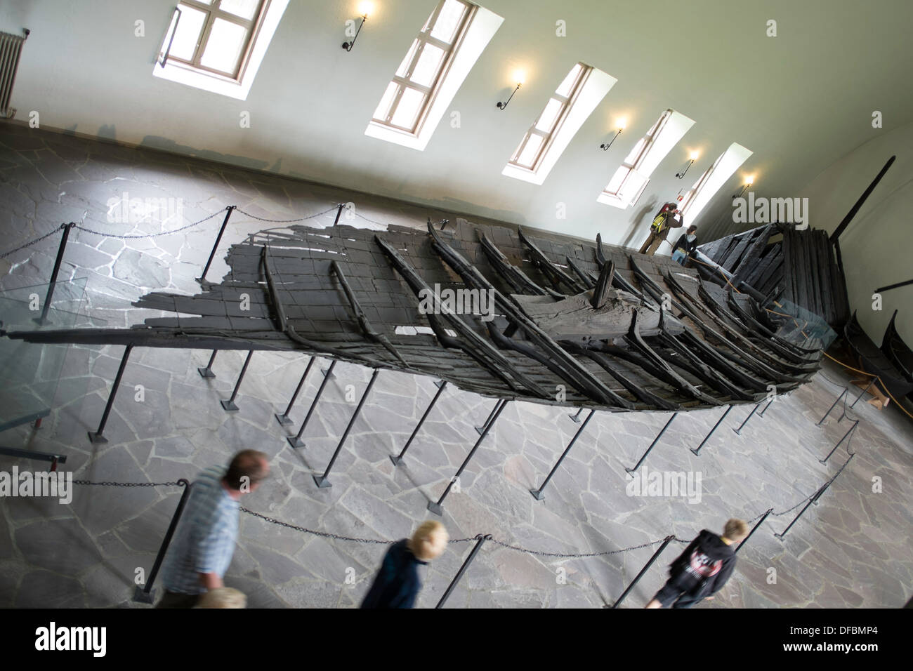 The Tune ship in the Viking Museum, Oslo Norway - Stock Image