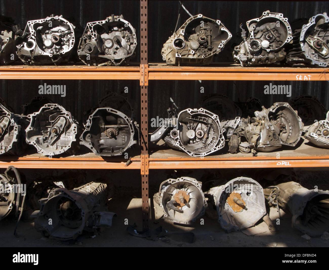 Storage warehouse in Seville, Spain. - Stock Image
