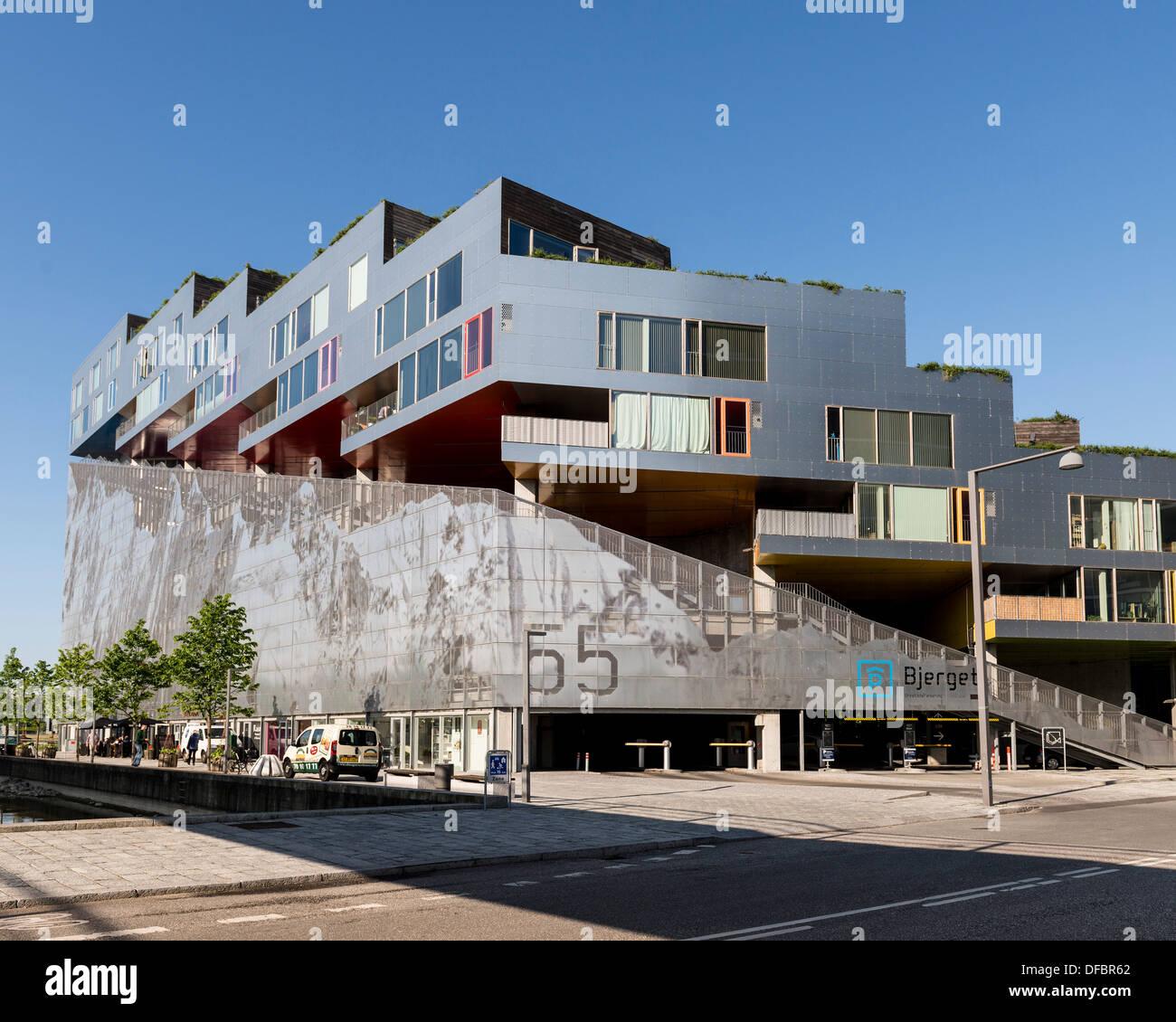 Mountain Dwelling (Bjerget), Copenhagen, Denmark. Architect: Bjarke Ingels Group (BIG), 2008. Stock Photo