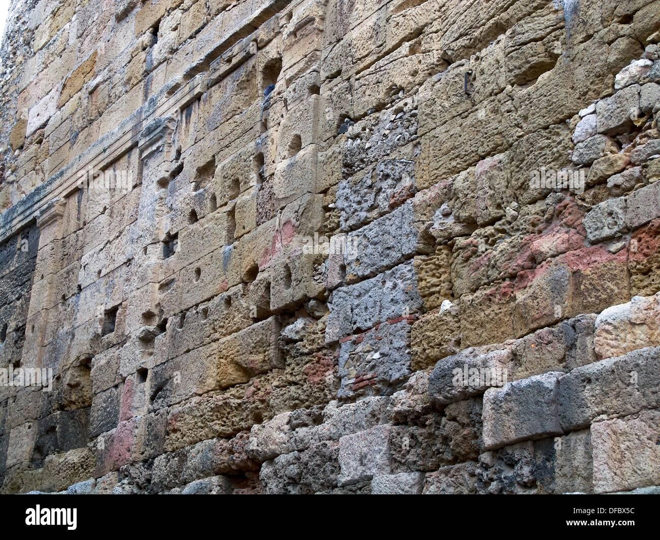 -Ancient Walls of Tarraco- Catalonian, Spain. - Stock Image