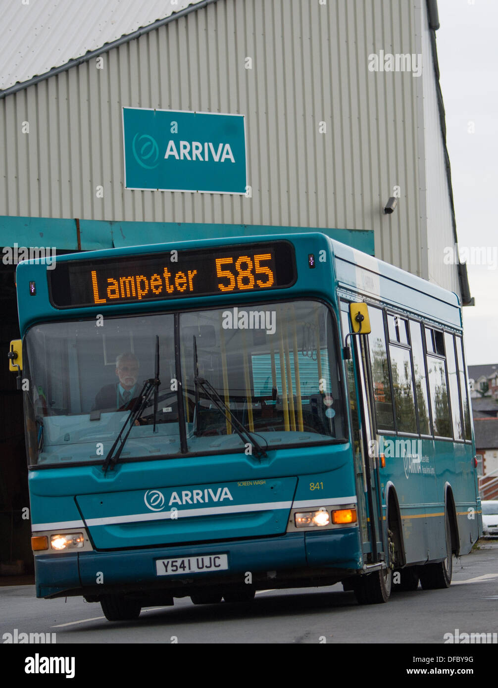 Aberystwyth Wales UK,  2 October 2013 In a surprise announcement  Arriva Buses Wales said it was pulling out of Stock Photo