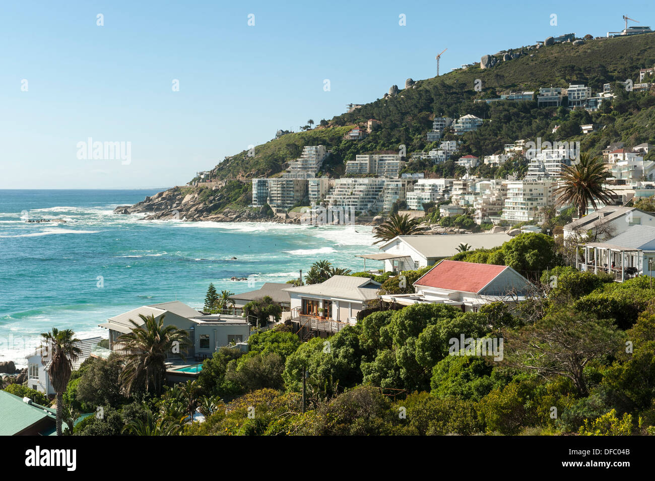 Clifton is an exclusive residential area in Cape Town, South Africa - Stock Image