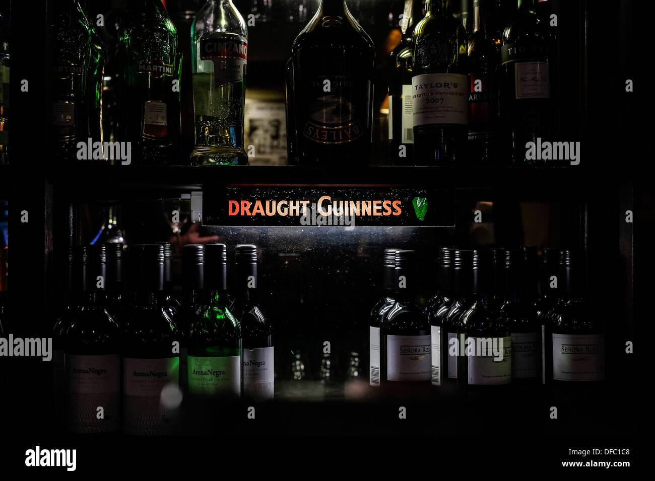 subdued lighting led subdued lighting illuminating various bottles of wine in pub stock image lighting photos images alamy