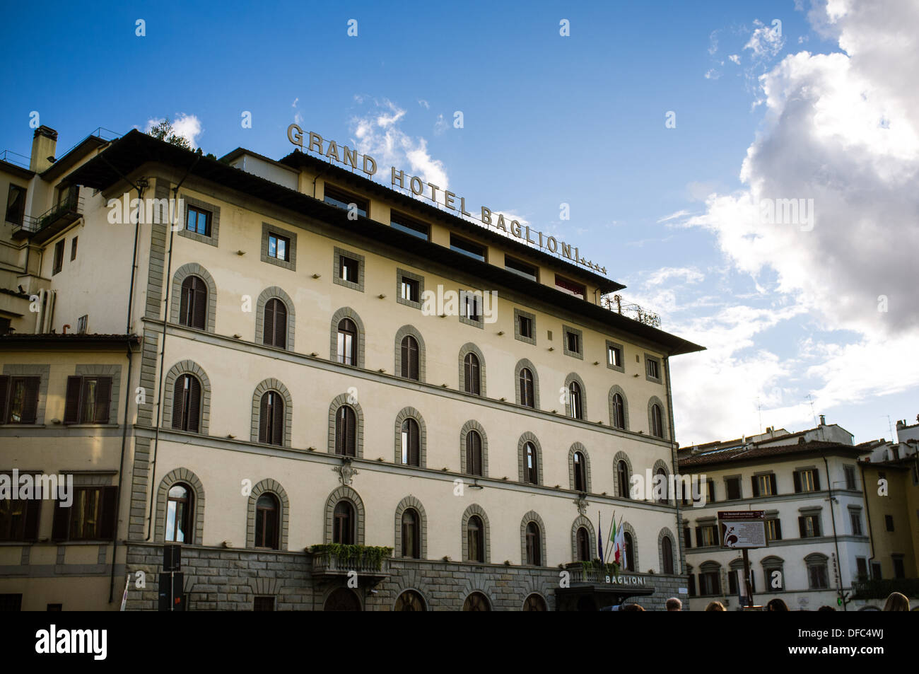 Grand Hotel Baglioni Florence Italy Stock Photo Alamy