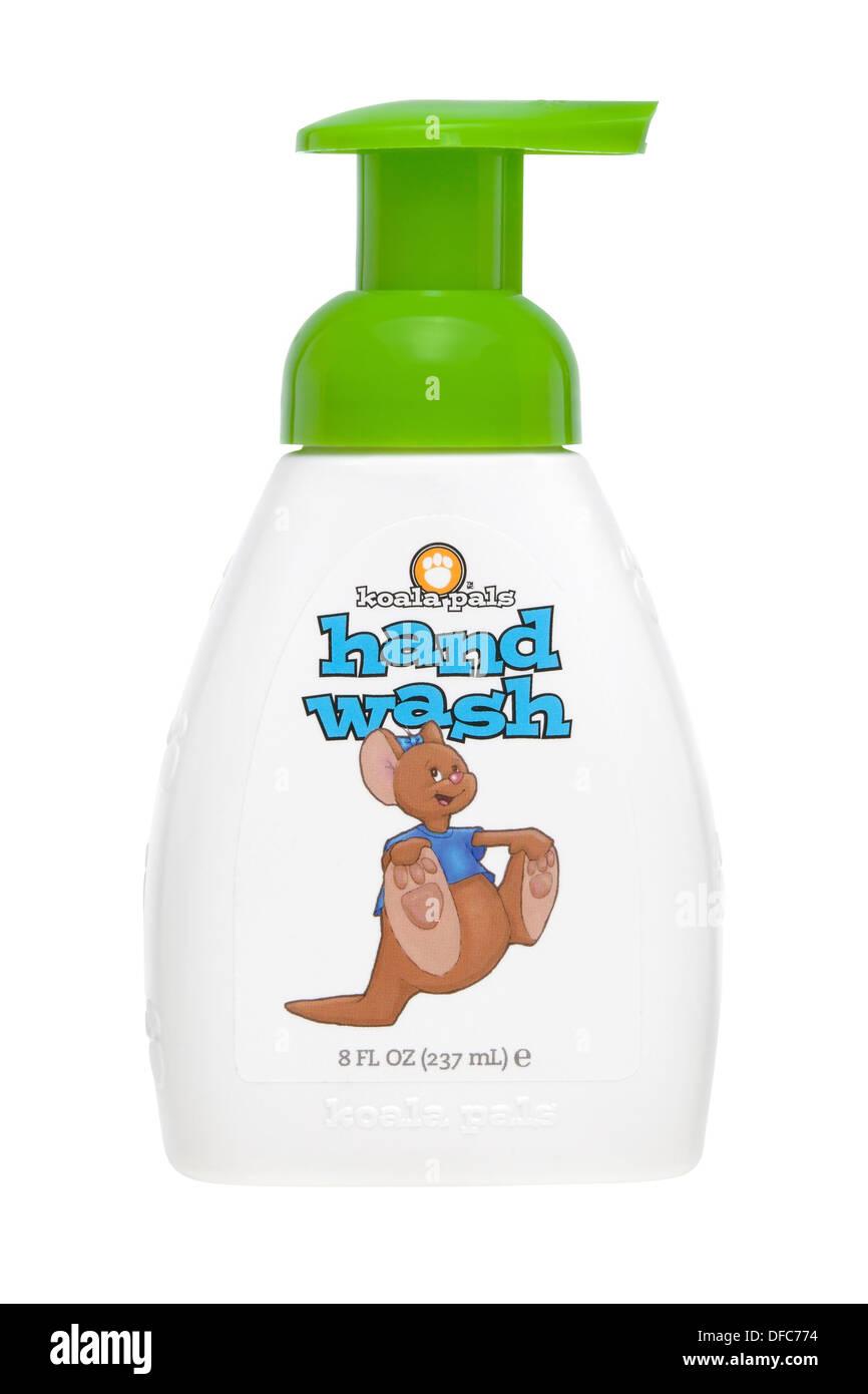 Melaleuca wellness child's hand wash bottle, children's soap against white background - Stock Image