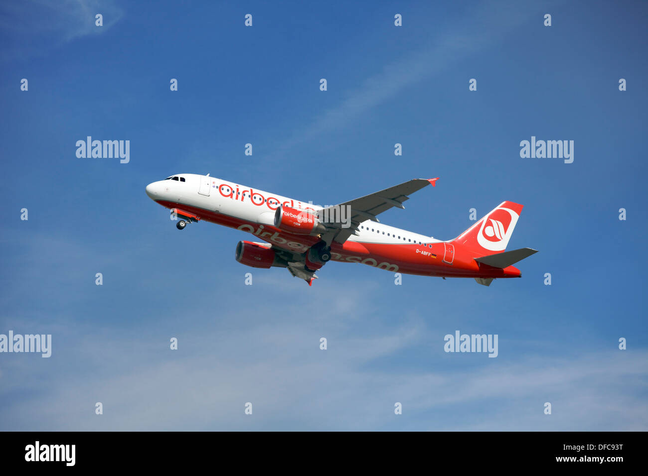 Air Berlin Airbus A320-214 D-ABFF - Stock Image