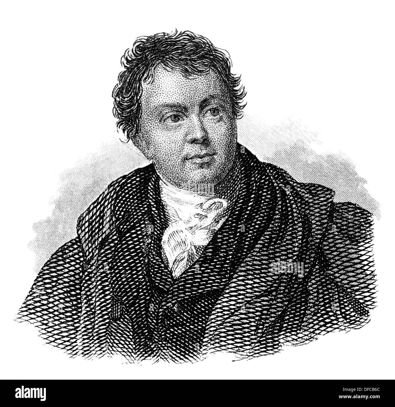 Portrait of Sir James Mackintosh, 1765 - 1832, a Scottish jurist, politician and historian - Stock Image