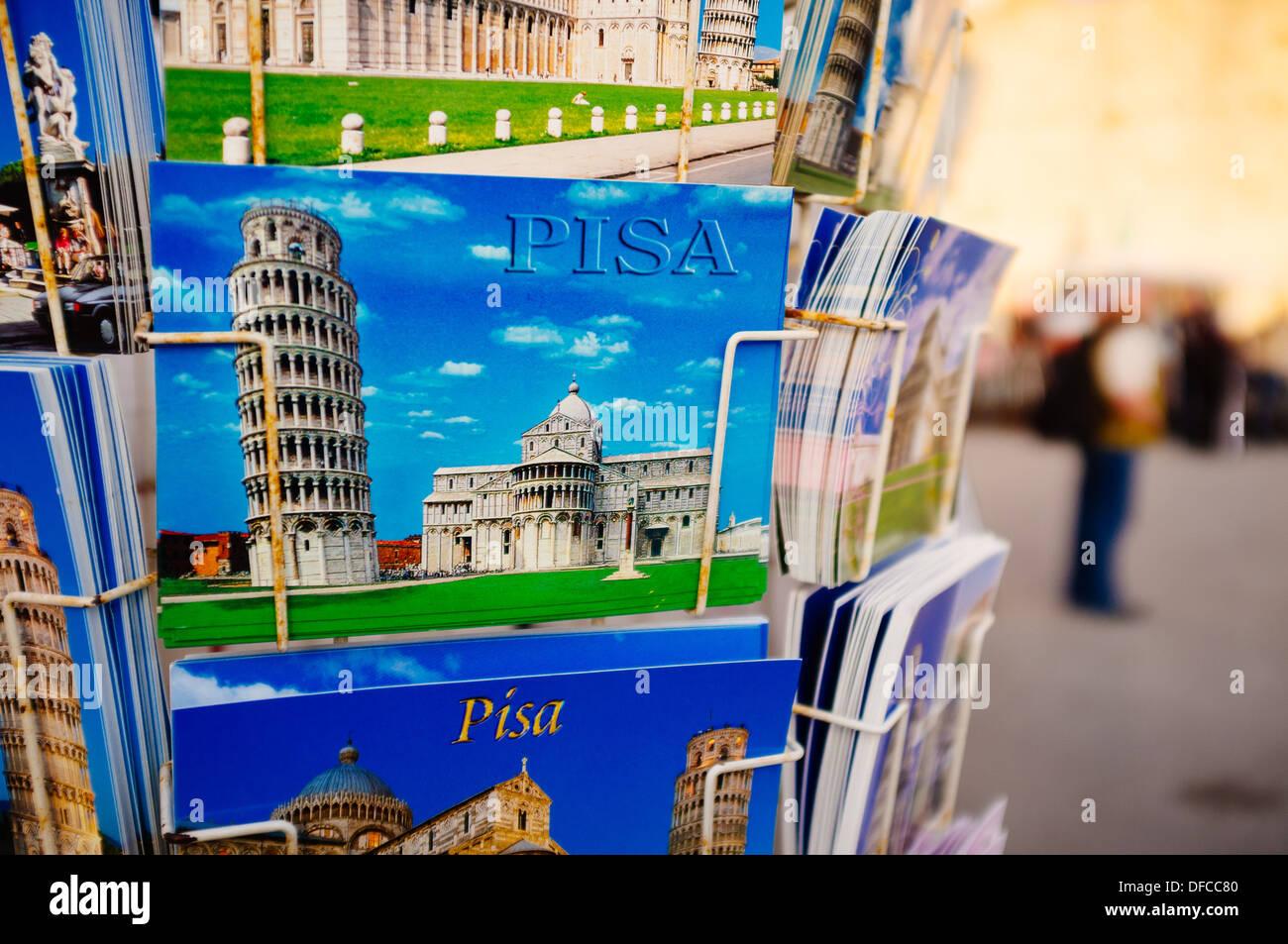 Postcards of Pisa - Pisa, Italy - Stock Image