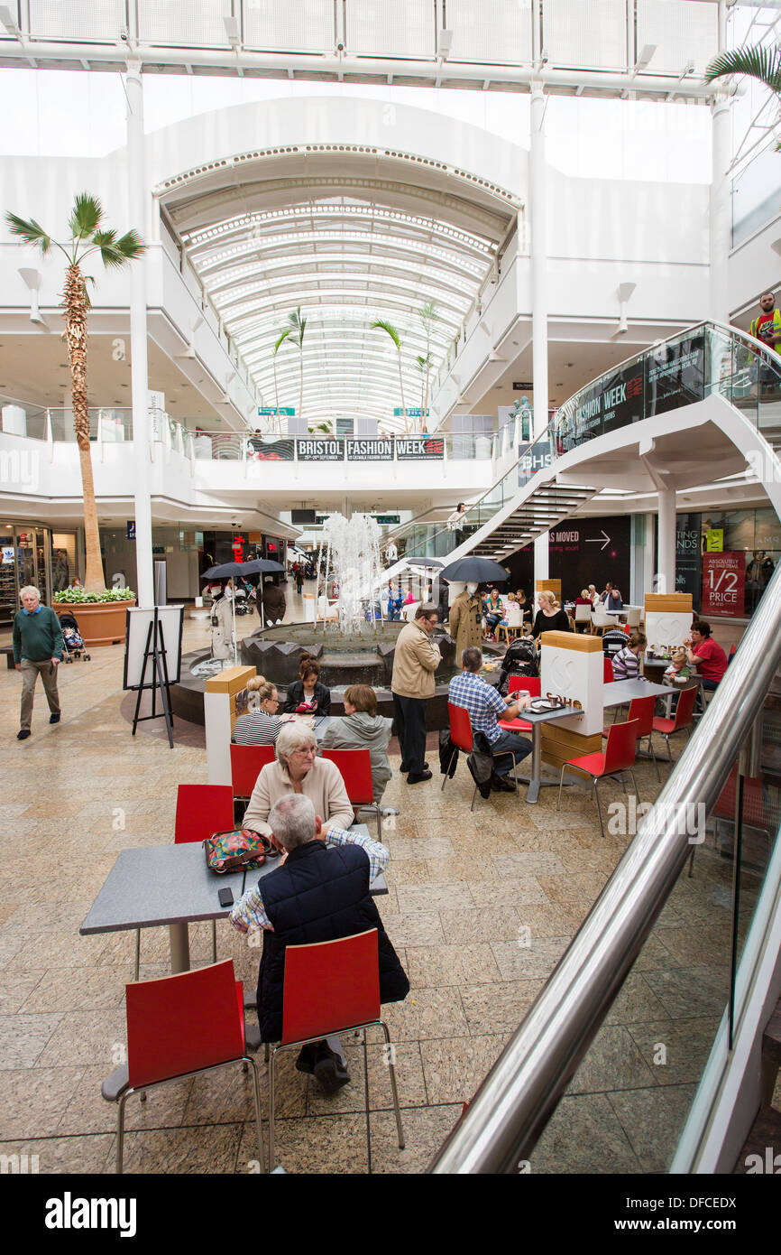 Bristol shopping mall in UK England , Cribbs Causeway leisure retail shopping centre called The Mall. south west - Stock Image