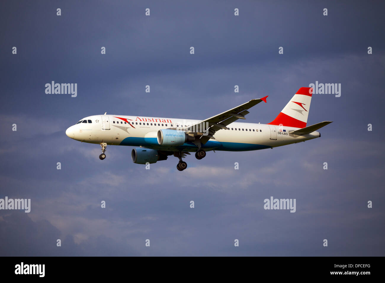 Austrian Airlines (Tyrolean Airways) Airbus A320-214 OE-LBO - Stock Image
