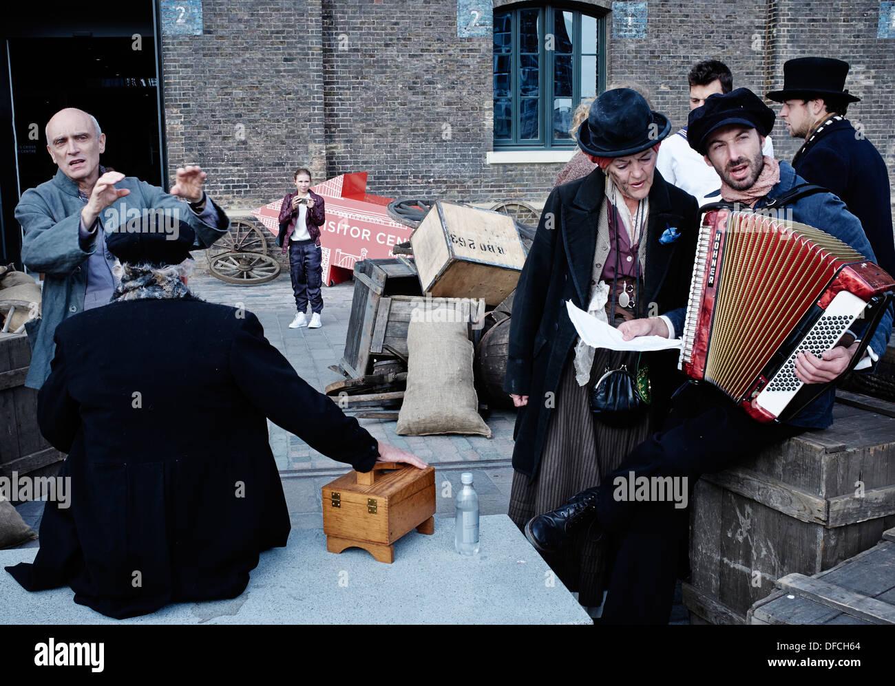 A scene from King's Cross Journeys, Granary Square, King's Cross, London N1C. September 2013. - Stock Image