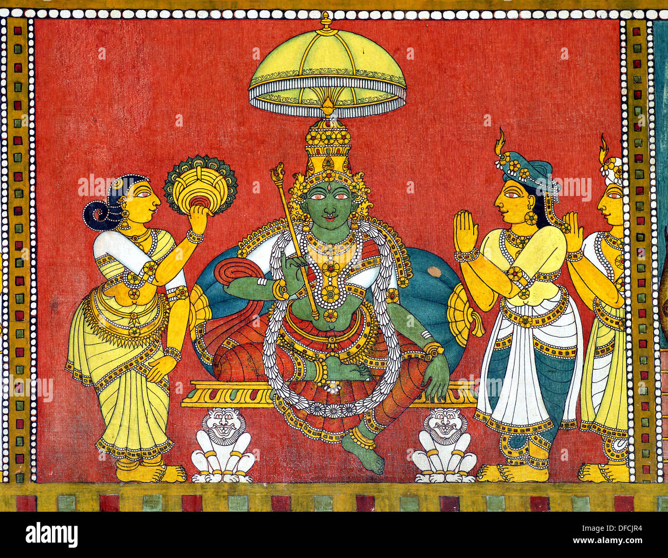 Murals of Thiruvilayadal Puranam (Lord Shivas Game, the collection of 64  stories, composed by Paranjyoti Munivar) in Sri Stock Photo - Alamy