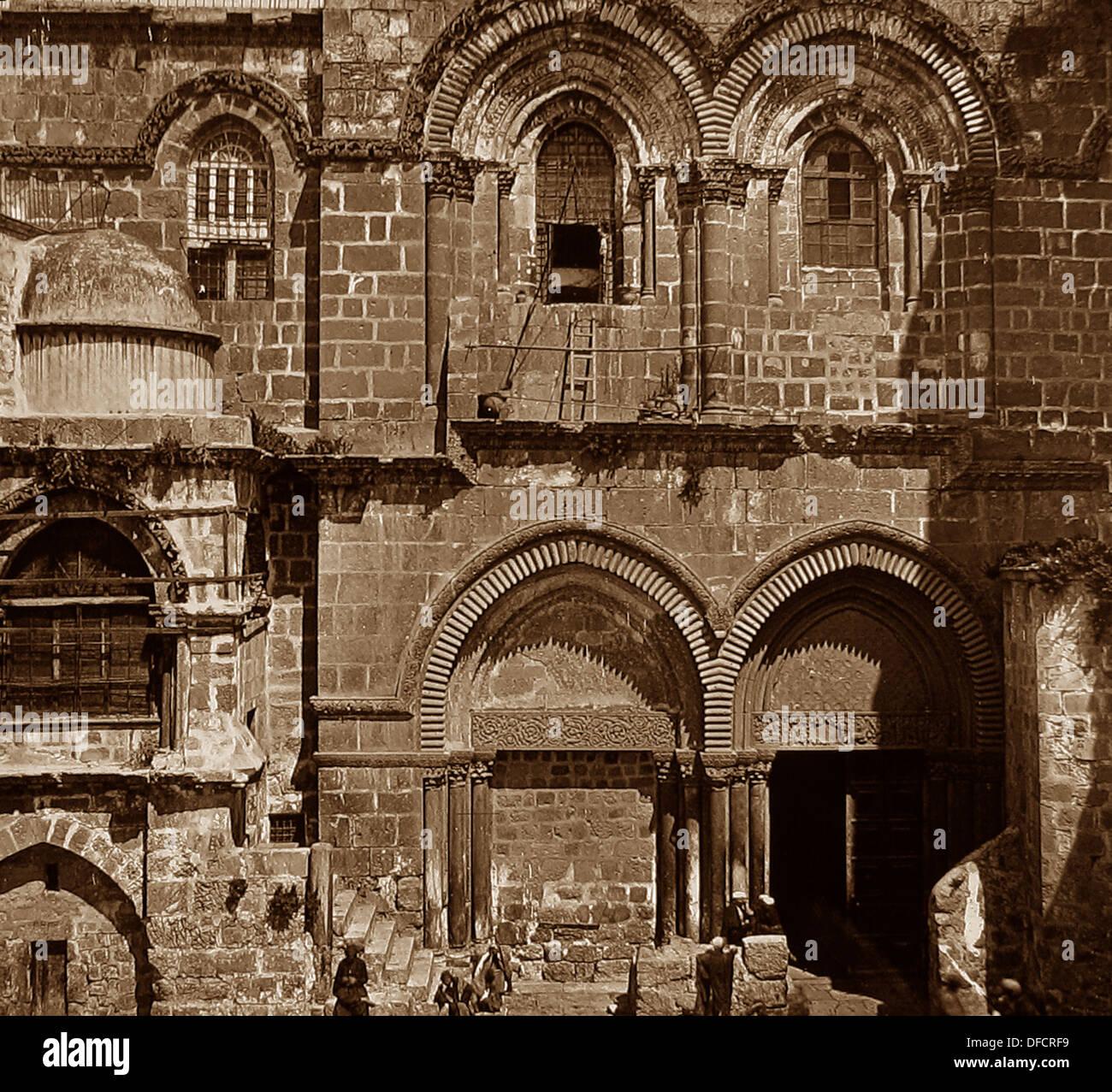 Jerusalem Church of the Holy Sepulchre probably 1870s - Stock Image