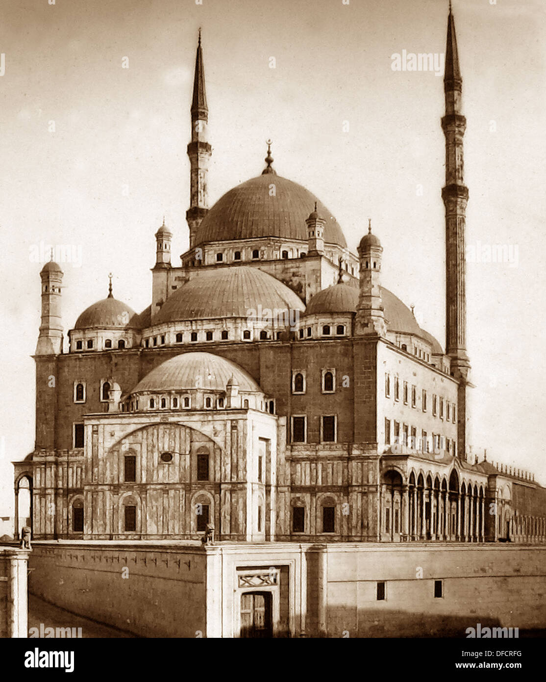 Egypt Mosque of Muhammad Ali probably 1870s - Stock Image