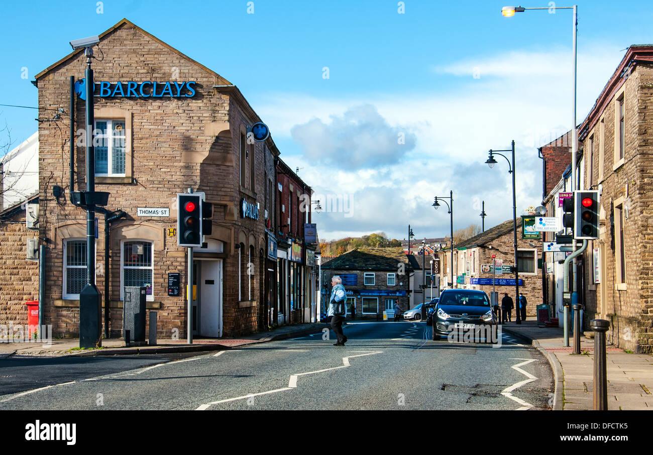 High Street, Lees. - Stock Image
