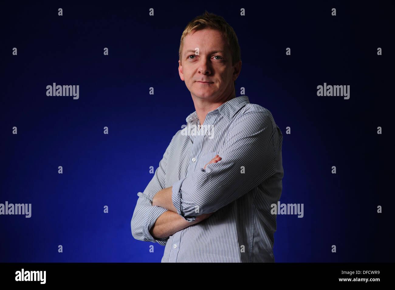 Doug Johnstone, Writer, musician and journalist, attending at the Edinburgh International Book Festival 2013. - Stock Image