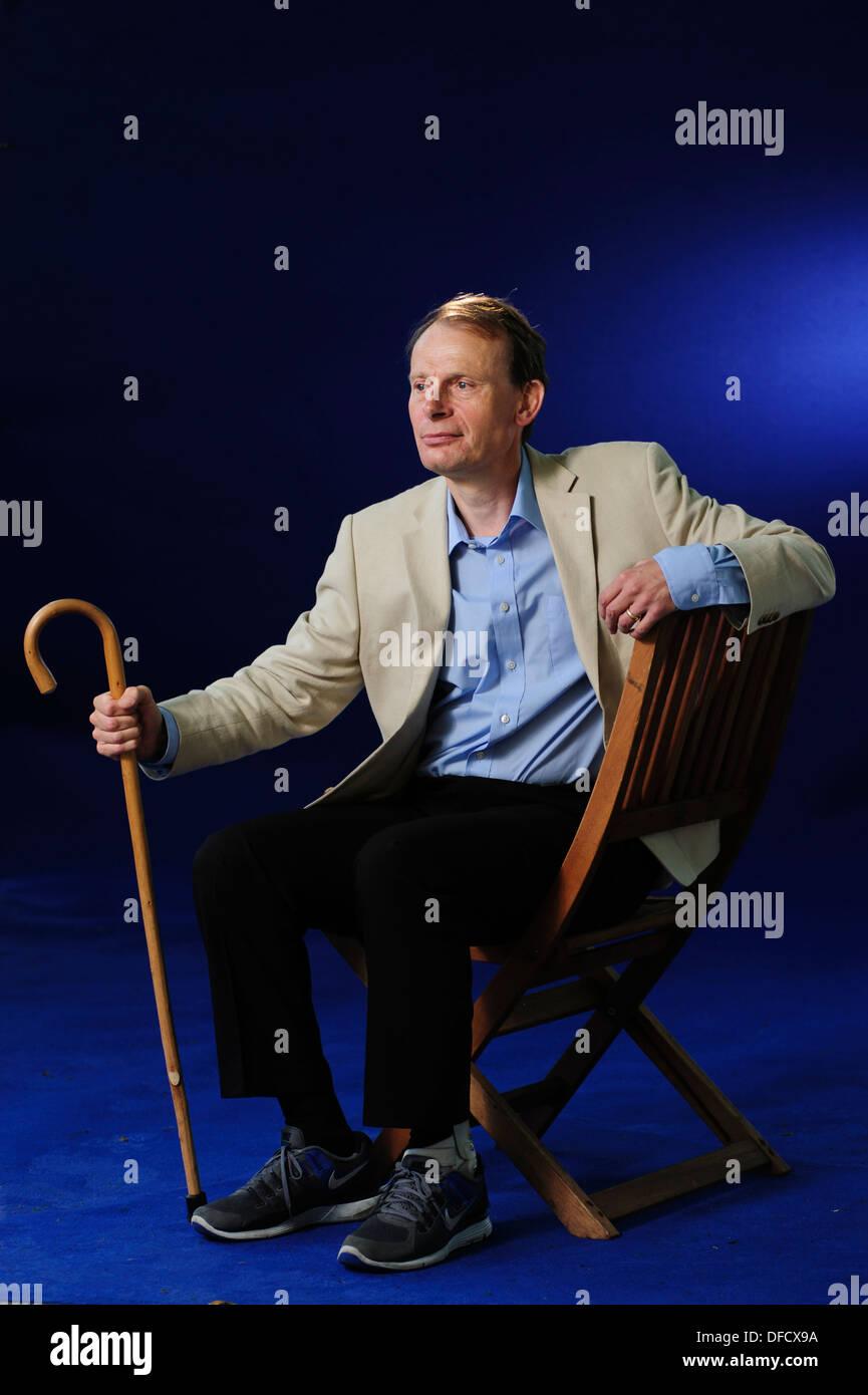 Andrew Marr, British journalist and political commentator, attending the Edinburgh International Book Festival 2013. - Stock Image