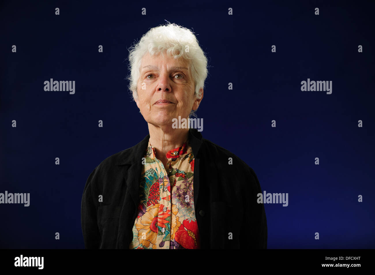 Jenni Calder, Scottish literary historian and arts establishment figure, attending at the Edinburgh International Book Festival - Stock Image