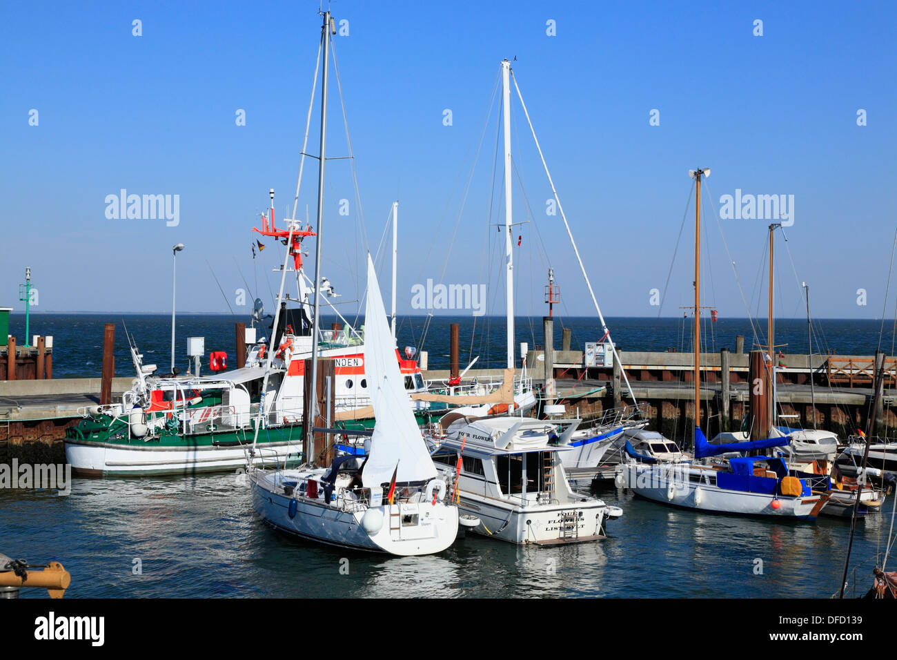 List harbour, Sylt Island, Schleswig-Holstein, Germany - Stock Image
