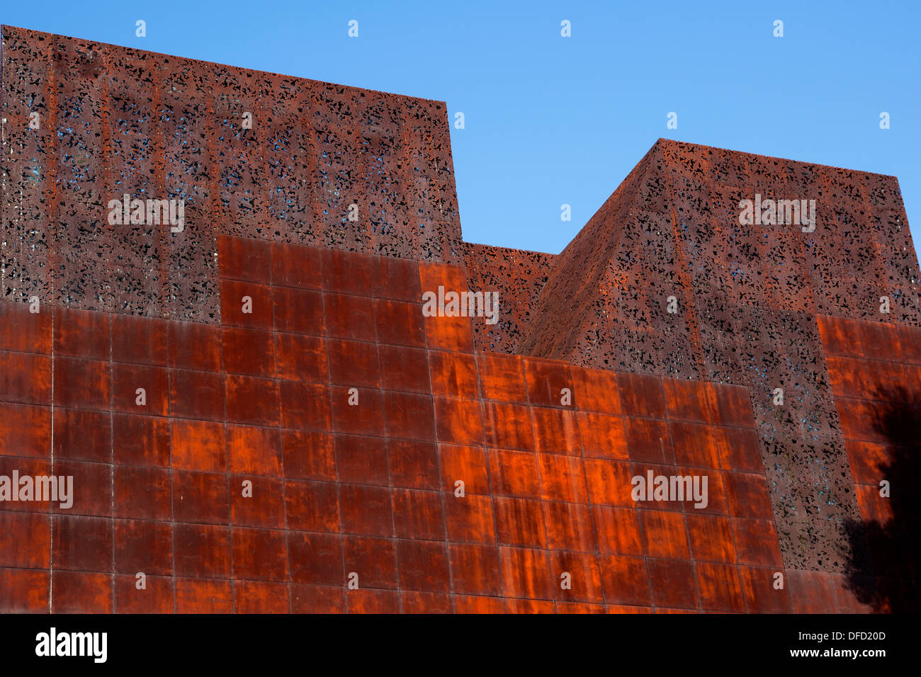 CaixaForum Museum and culture center, constructed by the Swiss architects Herzog & de Meuron Madrid - Stock Image