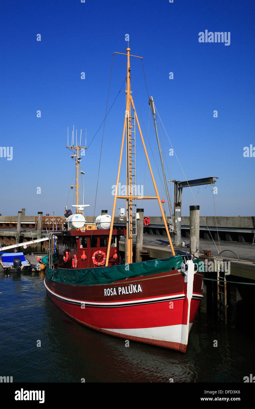 List harbour, cruise ship, Sylt Island, Schleswig-Holstein, Germany - Stock Image