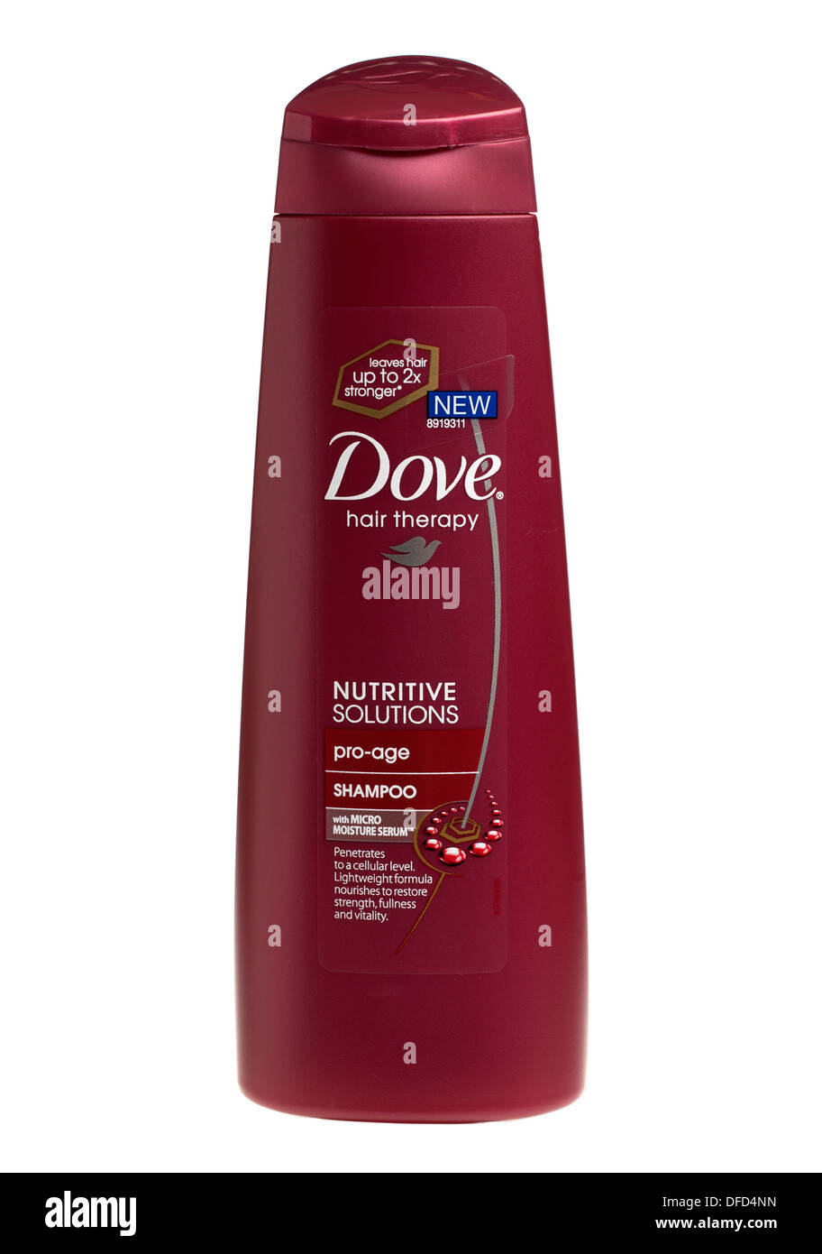 Container of Dove Hair therapy pro age shampoo - Stock Image