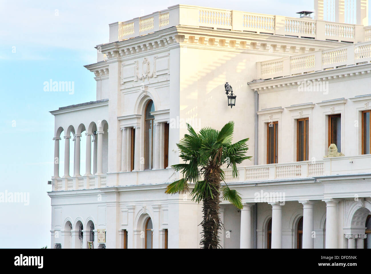 Livadia palace, Crimea, Ukraine. Location of the historic Yalta Conference at the end of World War II - Stock Image
