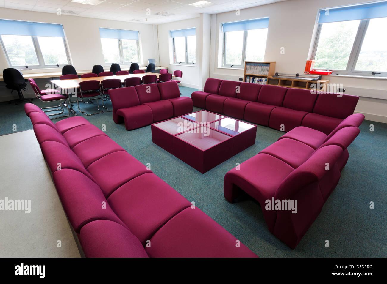 unoccupied Teachers common room in school - Stock Image