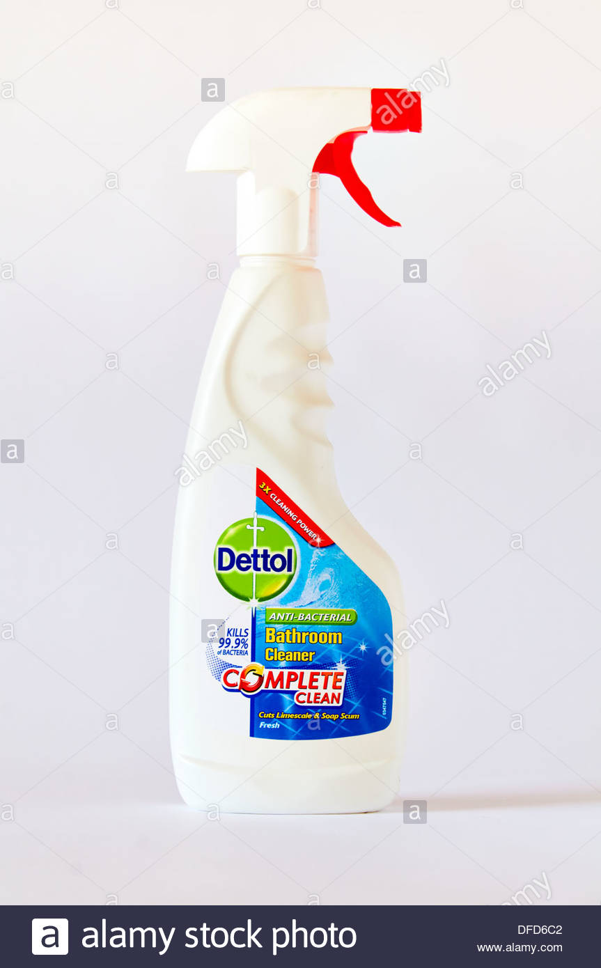 Anti Bacterial Cleaner Stock Photos Cussons Baby Liquid Detergent 750ml Dettol Bathroom For Limescale And Soap Scum In A White Plastic Container Bottle