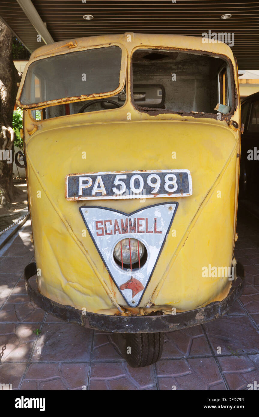 George Town, Penang (Malaysia): an old Scammell lorry at the Penang State Museum - Stock Image