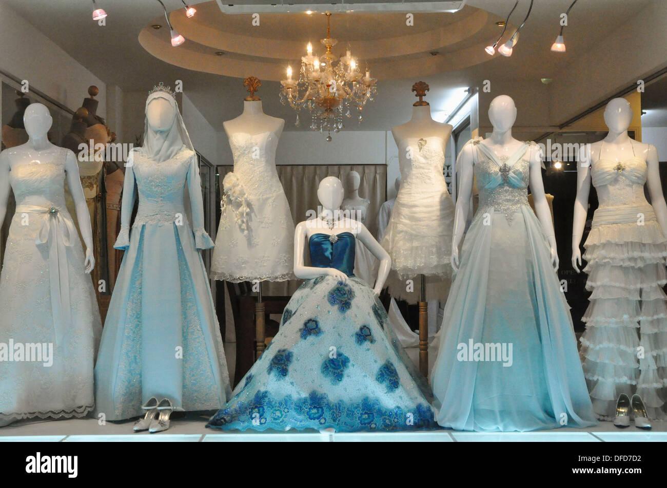 Pattaya (Thailand): a wedding dresses shop Stock Photo: 61142174 - Alamy