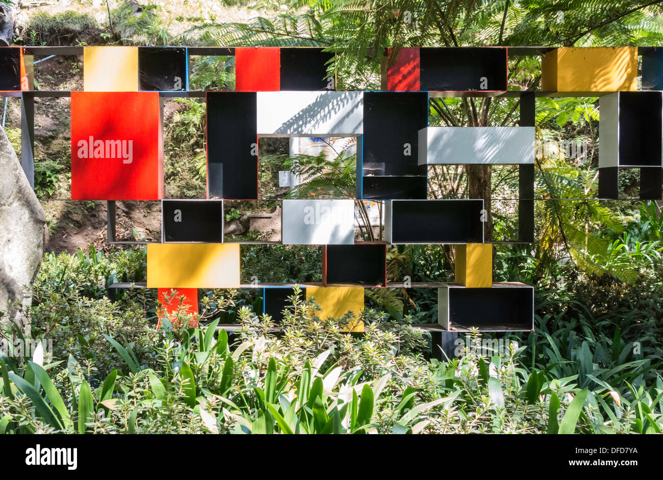 Art Installation Monte Palace Tropical Garden Funchal Madeira - Stock Image