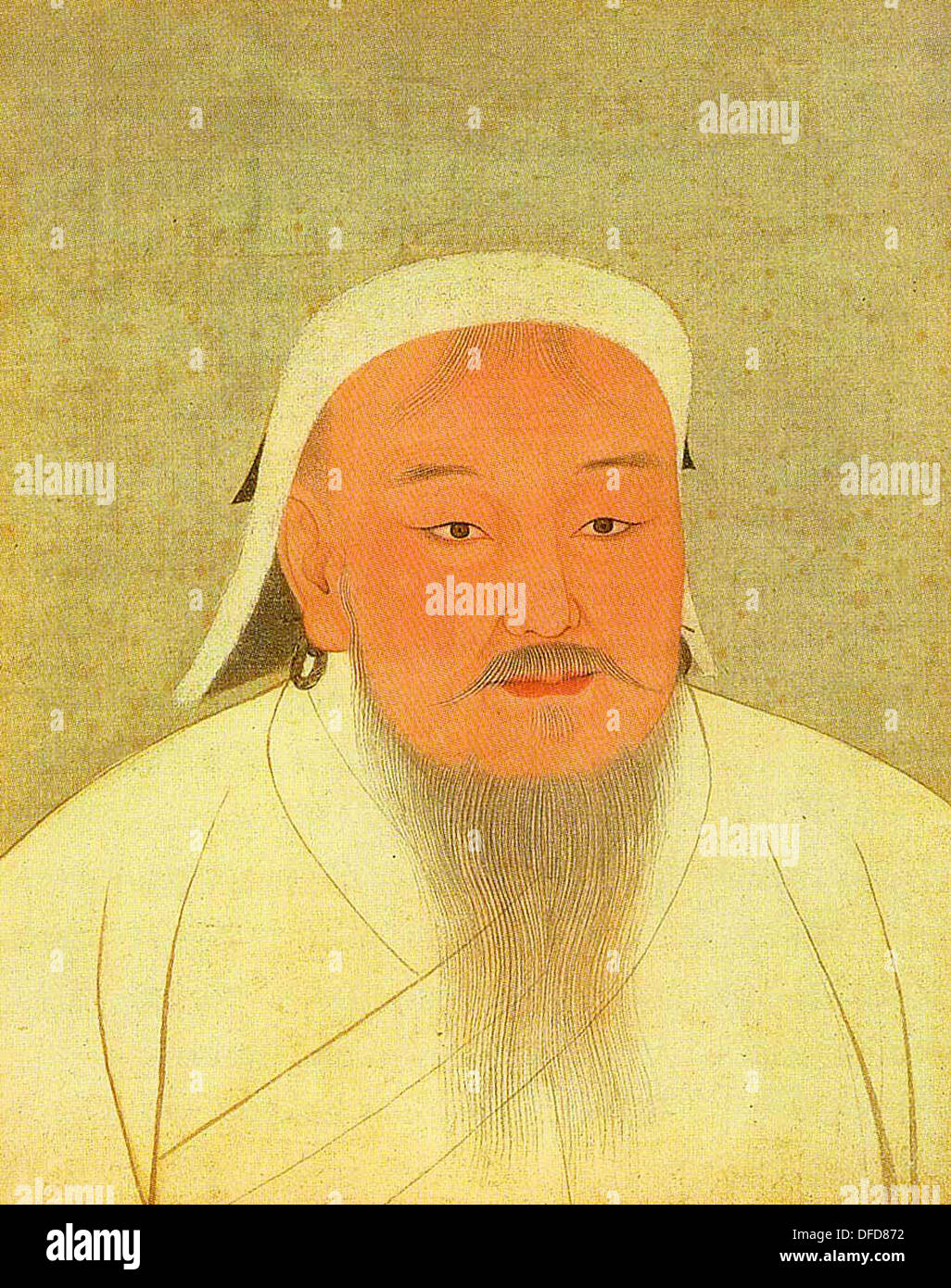 Genghis Khan founder of the Mongol Empire - Stock Image