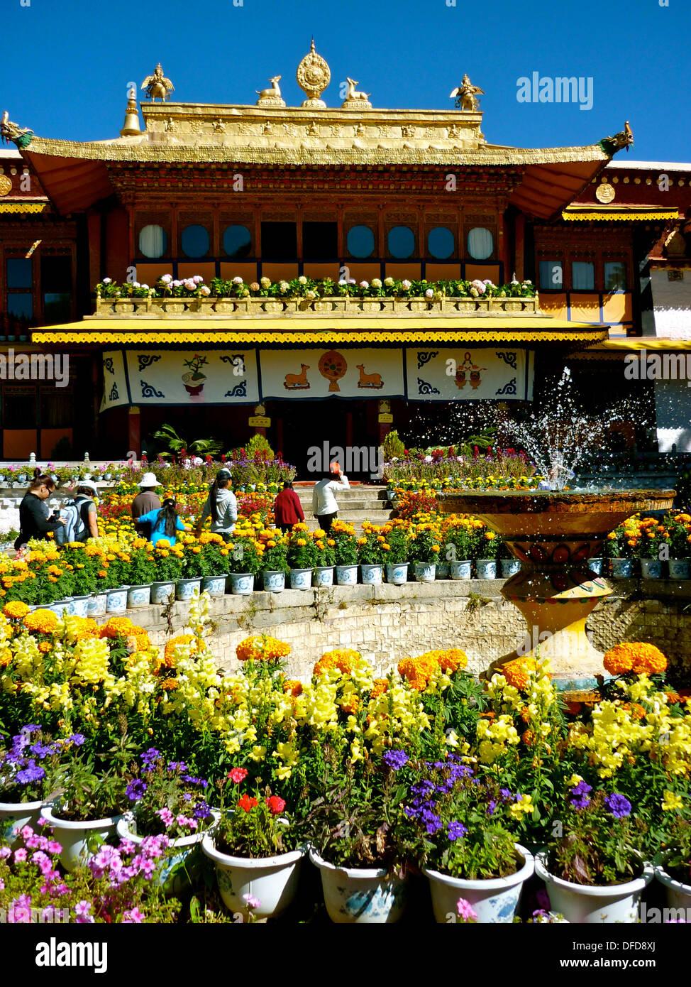 Norbulingka, the Dalai Lama's Summer Palace in Lhasa, Tibet - Stock Image