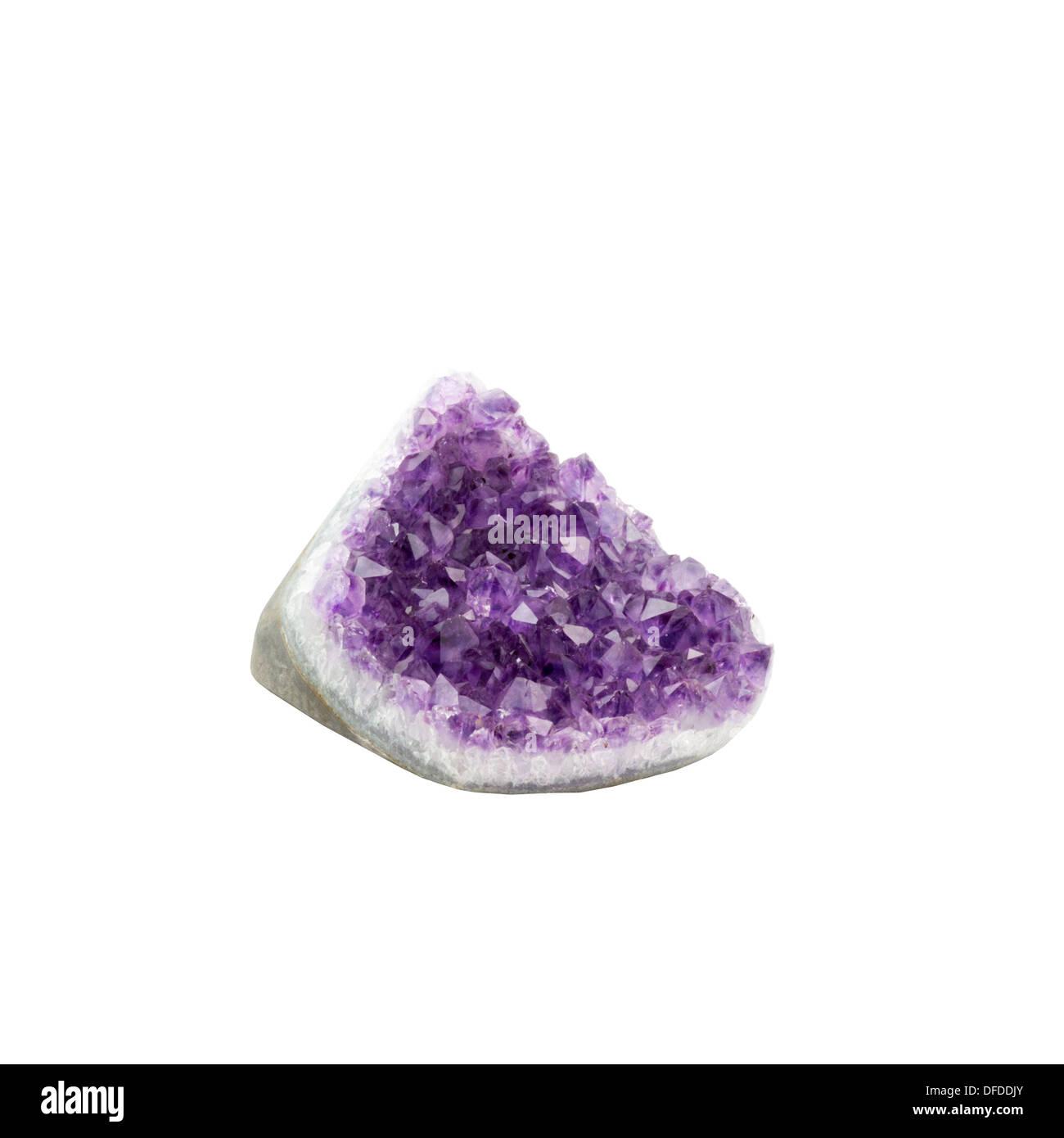 amethyst quartz crystal - Stock Image
