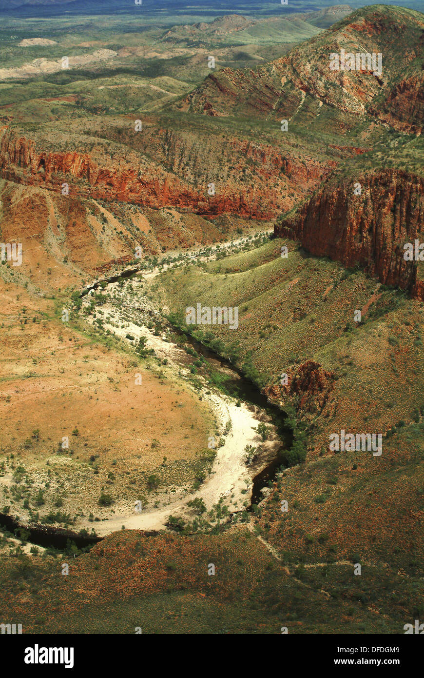 MacDonnell Ranges, Northern Territory, Australia - Stock Image
