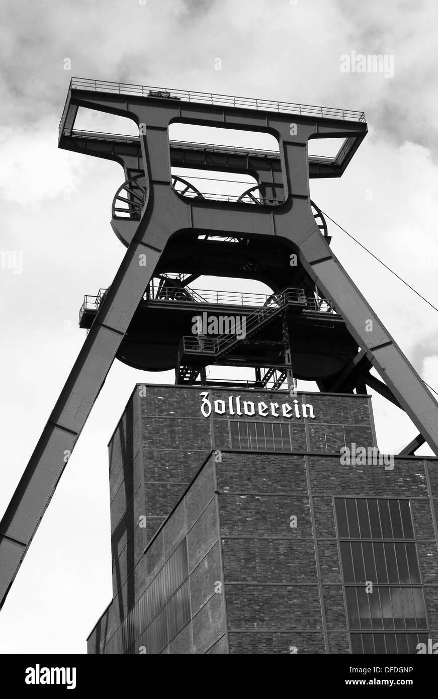 Zollverein coal mine industrial complex, Essen, Ruhr area, Germany - Stock Image