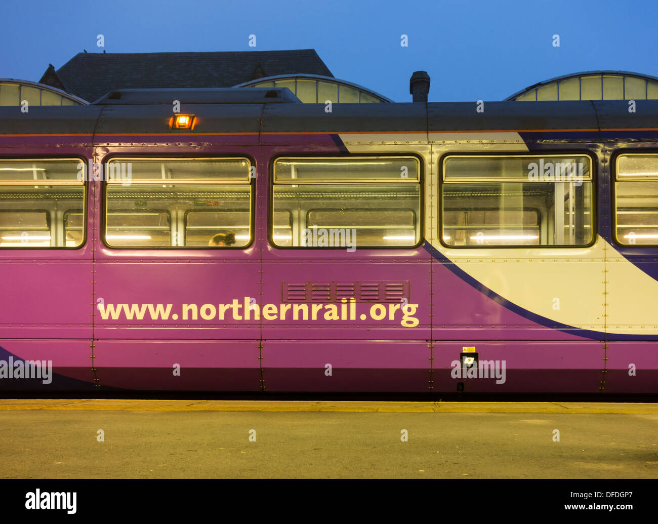 Northern Rail train at Middlesbrough station. England, UK - Stock Image